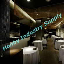 Freely Design Aluminum Metal Chain Assembled Restaurant Hanging Decorating Curtain