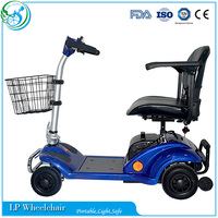 4 Wheel Disabled Electric Double Seat Mobility Scooter