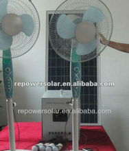 80w DC solar home system with solar panel,solar charge DC fans,
