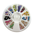 bonita de uñas de arte de la decoración conjuntos de clavos de la belleza de la rueda de uñas embalaje de accesorios al por mayor