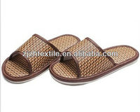 natural straw slippers/bamboo slipper shoes