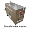 12V*4 30bar diesel car wash steam machine, steam generator gas