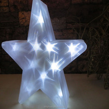 battery operated pvc star christmas light star sharped LED Christmas light color changing led christmas lights