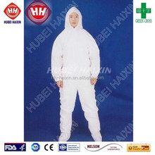 Economic disposable SMS Fabirc 00coverall with hood, soft and comfortable, disposable protective products with CE and FDA