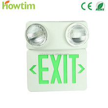Hot sell CE RoHS led emergency charging light fire safety twin spots & exit signs symbols