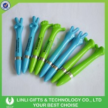 Available Color Finger Shape Plastic Pens For Logo