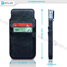 PU Material and All 5-inch Cell Phone Compatible Brand Universal leather pouch bag for men