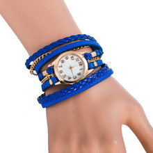 new times leisure ladies bracelet watch for girls,ladies pu rope wrist watches,latest wristband watches design for ladies