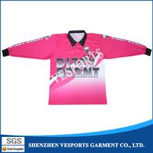Dry fit custom printed fishing shirts