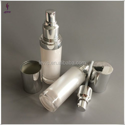 50ml empty luxury acrylic bottle with silver cover