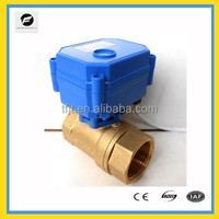 DC3-6V-24V copper electric operated valves, motor electric ball valve for Irrigation equipment,drinking water equipment