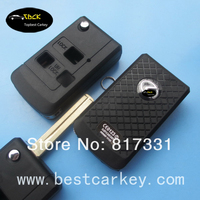 High quality 3 button silicone key cover for folding key shell key lexus lexus key case
