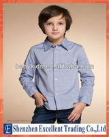 Fashion and Children's Blue Long- Sleeved Shirts