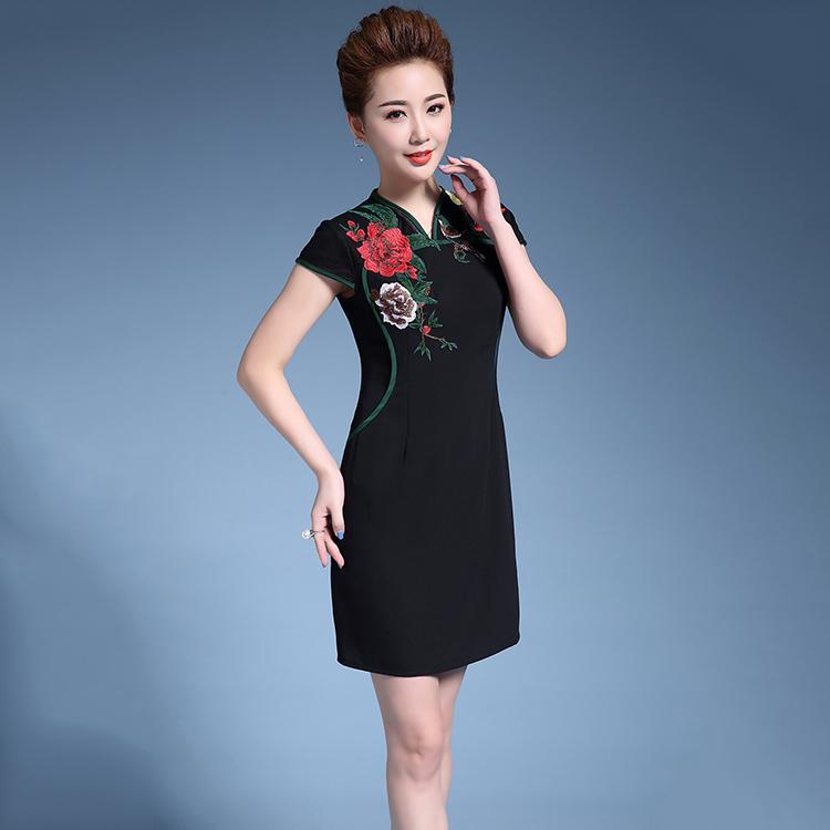 Tang Suit Phụ Nữ Quần Áo Sườn Xám Cái Yếm Váy