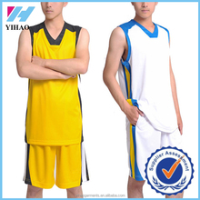 Yihao Custom High Quality Mens Breathable and Dry Fit Basketball Sports Wear Clothing Wholesale