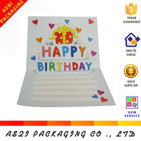 3d foldable letters handmade birthday card designs with UV coating