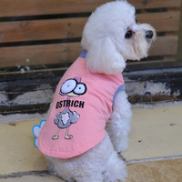 Wholesale Brethable Teddy VIP Dog Summer Clothes With Innovative Big Eye Ostrich