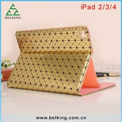 Book Design Tablet Bag Leather Case For iPad 2/3/4 Tablet, For iPad 4 PU Standing Case