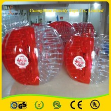 Customized color 1.0MM Thickness PVC inflatable bumper ball,bubble soccer,outdoor loopyball