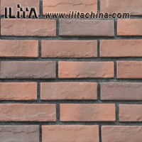decorative thin red face brick veneer indoor wall cladding