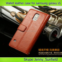 slim fit flip wallet leather case for samsung s5,for samsung s5 case leather wallet, for samsung galaxy s5 case wallet leather