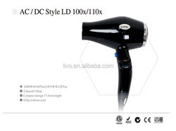 professional salon use hair dryer with hot and freezing wind frequency change