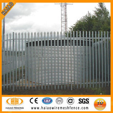 Polyester painted euro palisade fence,galvanized palisade fencing