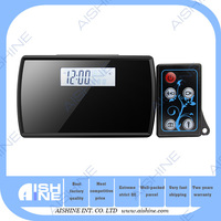 LED Mirror Hidden Alarm Clock Camera Voice Broadcast Multi-function Clock Video Recorder with Remote Control