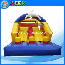 Inflatable kids dolphin slide, small kids slide, kids inflatable slide