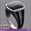 Sterling Silver Jewelry CZ Gemstone Saudia Arabic Man Ring