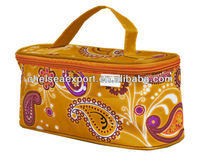 beautiful leisure decent indian style ladies cosmetic fashion makeup bag