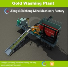 mobile gold wash plant on low bed trailer for alluvial gold plant in Africa