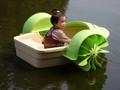 Piscina de natación bote de remos / parque acuático barco de ocasión