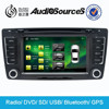 Navigation double din car dvd player for VW/Skoda with TV Gps 3G USB car dvd player