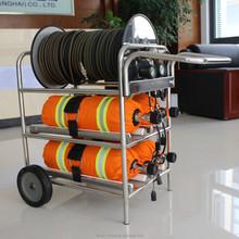 4 cilindro de aire largo tubo de respiración, similar msa carro portátil de respiración