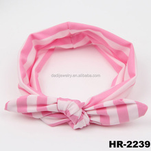 Hair accessories kids toddlers knotted baby headband cotton stripe knot headbands