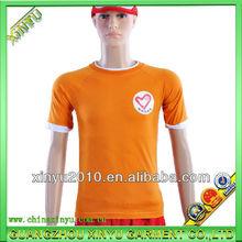 Hot sale whosale short sleeve orange all brand t-shirts