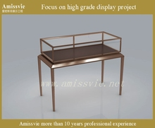 modern high quality stainless steel stand jewelry display showcase/display counter