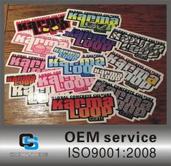 high quality & waterproof custom sticker, die cut pvc stickers custom ,custom pvc stickers