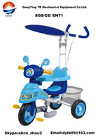 children tricycle with canopy with rubber wheel