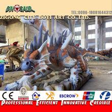 Outdoor amusement park lifesize animatronic dragon