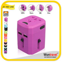 JY-163 Manufacture travel adapter usb socket plug output 2.5A travel adapter socket lot