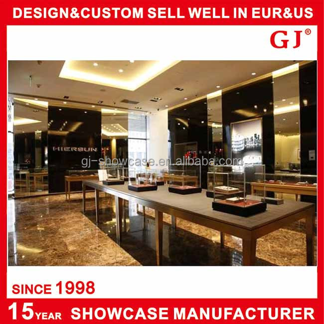China factory store furniture jewelry display corner for G furniture mall meerut