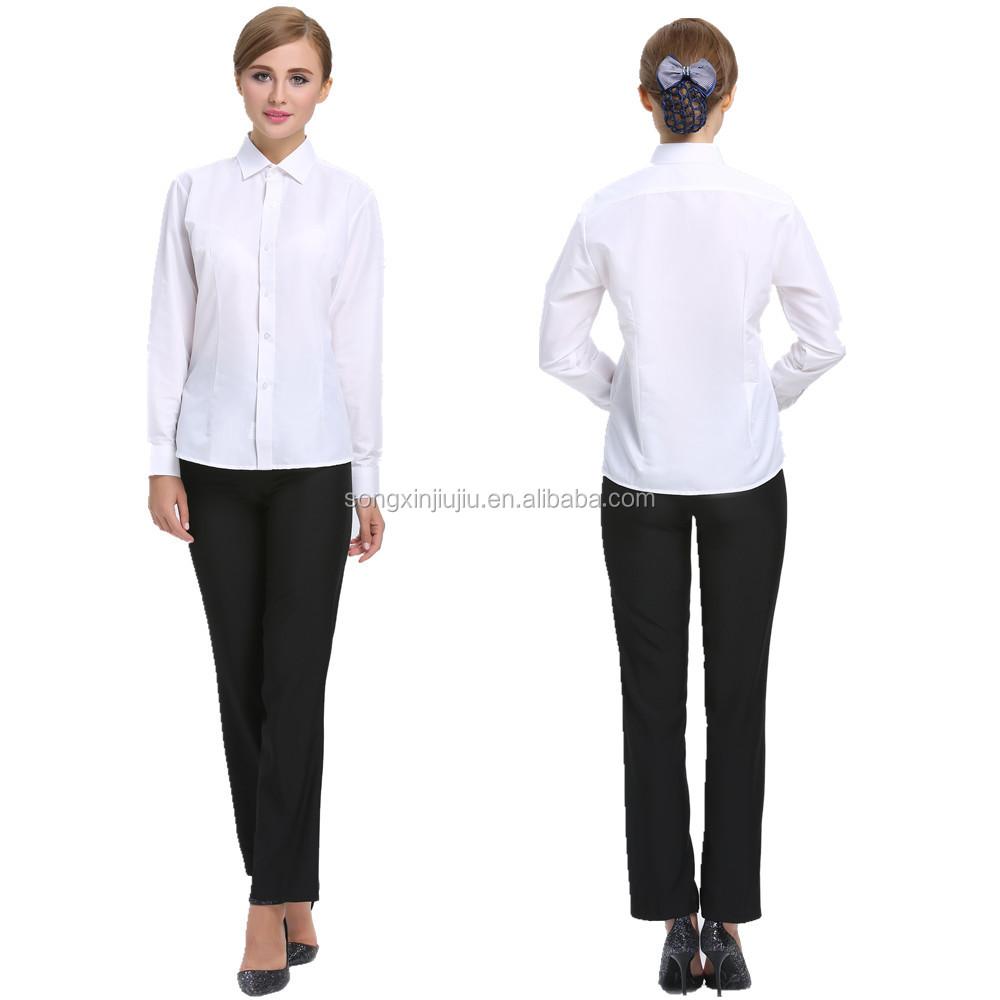 Hot sell female office uniform design sample office for Office design uniform