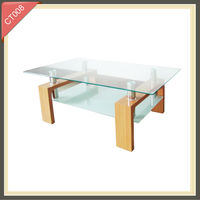 hot selling Square Wooden storage coffee tables