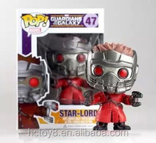 2015 new hot sale 10cm PVC Funko POP Guardians of the Galaxy Star-Lord Peter Jason Quill 47# action figure