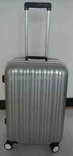 2015 new arrival aluminum trolley large luggage case colorful