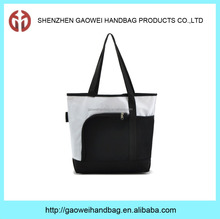 High quality 2016 fashion polyester waterproof promotional cheap logo shopping bag