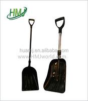 china tool square mouth aluminium alloy snow shovel with nylon handle