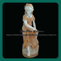 Outdoor Classical Stone Female Statue, Marble Figure Sculpture